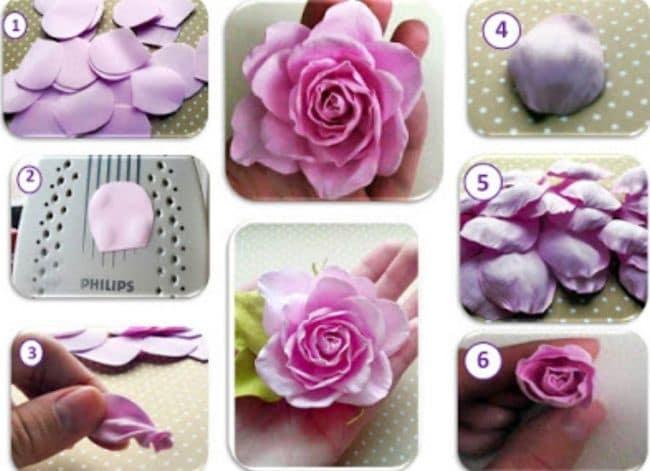 flores eva como fazer2 - Veja Como Fazer Flores De EVA [Maneira Mais Fácil]